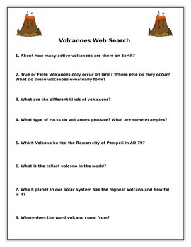 Volcanoes Web Search