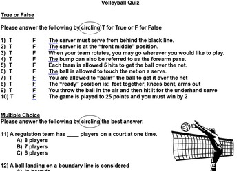 Volleyball Assessments