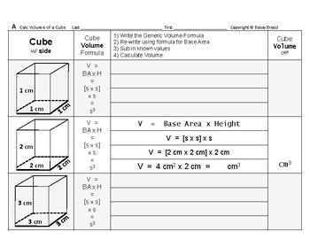 Volume 03: Volume of Cubes + How Changing Side Affects Volume