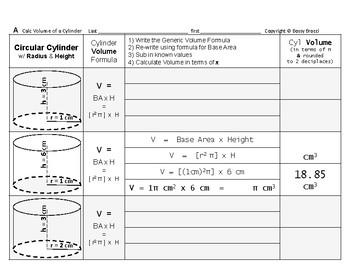 Volume 09: Volume of Cylinders + How Radius & Height Affec