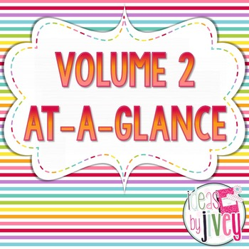 Volume 2 At-A-Glance (Mentor Sentences, Better Than Basal,