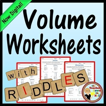 Volume - 3 No-Prep Printables!  Find the Volume to answer