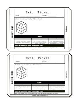 Volume Exit Tickets