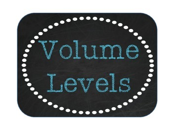 Volume Levels - Burlap, Chalkboard, and Teal