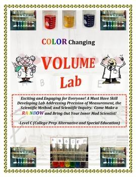 Volume Measurement RAINBOW LAB - Level C (CP, SPED, INCLUS