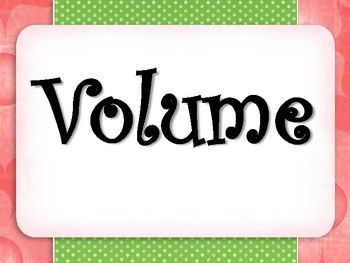 Volume Posters