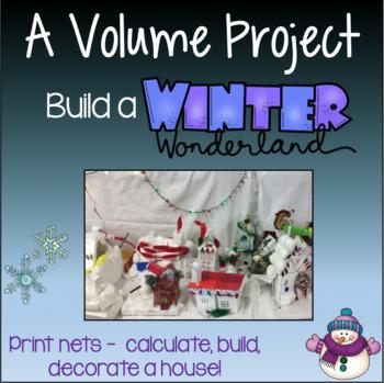 Volume Activities - Build a Winter Wonderland Village