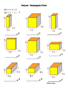 Volume - Rectangular Prism