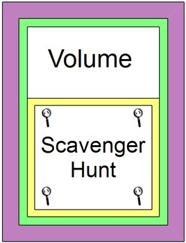 Volume - Scavenger Hunt (16 problems)