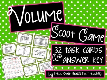 Volume Scoot {Task Cards}