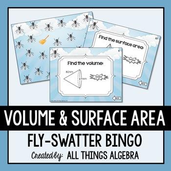 Volume and Surface Area Bingo