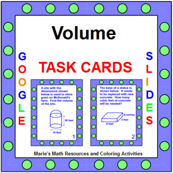 Volume - TASK Cards (24 cards) G.GMD.1, G.GMD.3, G.MG.1