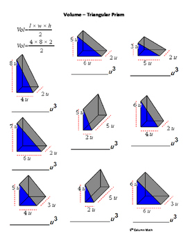Volume – Triangular Prism