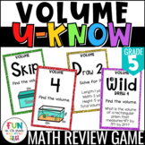 Volume Game for Math Centers or Stations: Finding Volume