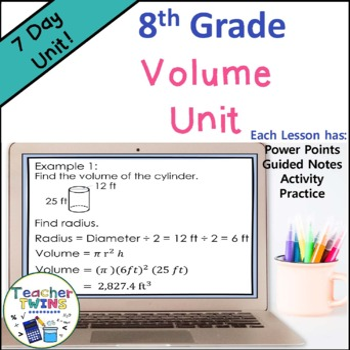 Volume Unit Common Core Standard 8.G.9