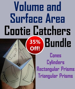 Volume and Surface Area Practice Activity (Scoot Unit Revi