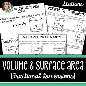 Volume and Surface Area Math Stations