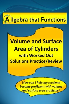 Volume and Surface Area of Cylinders With Worked Out Solut