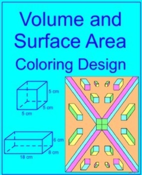 Volume and Surface Area of Rectangular Prisms - Coloring Activity