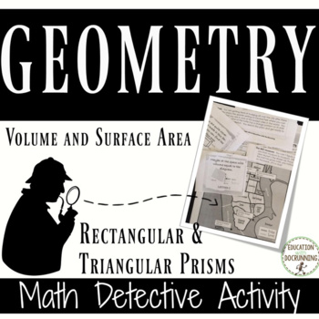 Volume and Surface Area Math Detective Activity