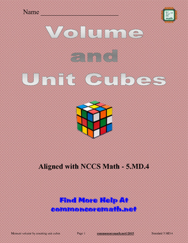 Volume and Unit Cubes - 5.MD.4