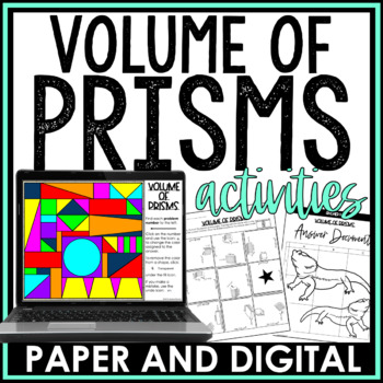 Volume of Prisms Activity Pack