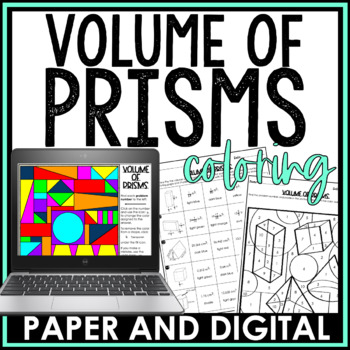 Volume of Prisms Coloring Activity
