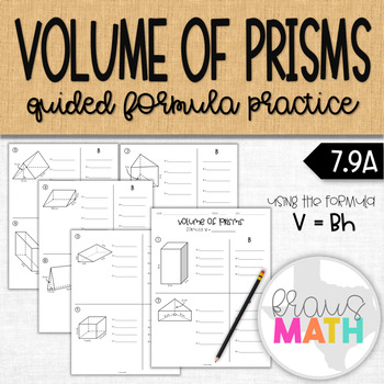 Volume of Prisms Guided Notes