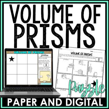 Volume of Prisms Puzzle Activity