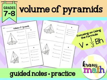 Volume of Pyramids Notes