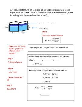 Volume of Rectangular Prism with Liquid