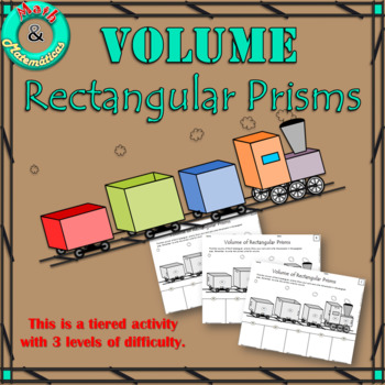 Volume of Rectangular Prisms-Practice Using a Train. Tiere