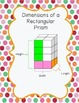 Volume of Rectangular Prisms Recording Sheet and Dimension