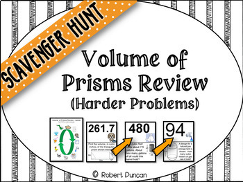 Volume of Prisms Review (Harder problems)