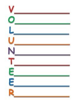 Volunteer Acrostic Poem