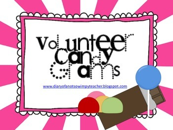 Volunteer Appreciation Candy Grams