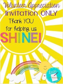Volunteer Appreciation Invitation, EDITABLE! {Thank you fo