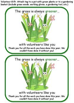 Volunteer Gift- Grass is always greener