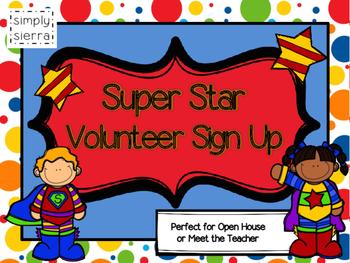 Volunteer Sign Up Sheets