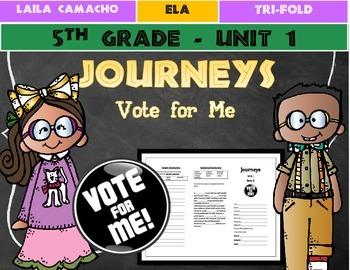 Journeys Grade 5 Trifold (Vote for Me)