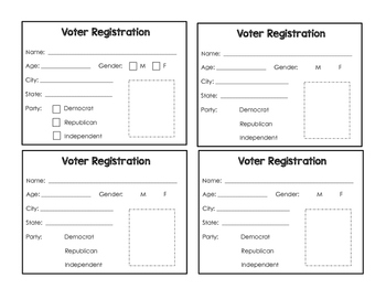 Voter Registration Cards