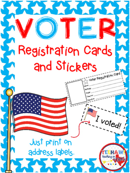 Voter Registration Cards and Stickers