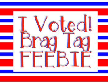 Voting Brag Tag FREEBIE!