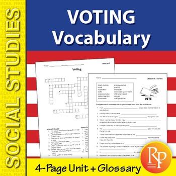 Voting Vocabulary Unit