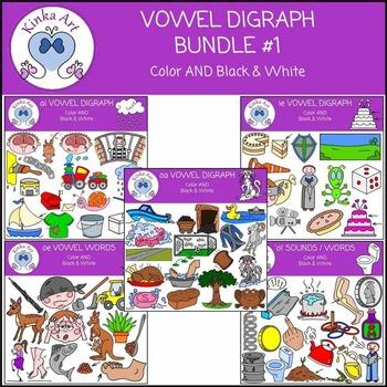Vowel Digraph Clip Art Bundle #1