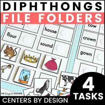 Centers by Design: Vowel Diphthong File Folder Tasks