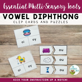 Diphthongs ~Clip Cards and Puzzles~