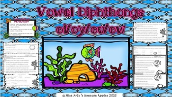 Vowel Diphthongs - oi/oy/ou/ow - Fish Tank Theme