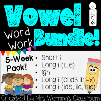 Vowel Ii Pack - 3 weeks of Lesson Plans, Activities, and W