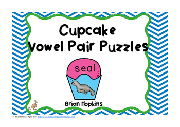 Vowel Pairs Puzzles